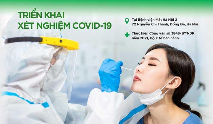 Bệnh viện Mắt Hà Nội 2 triển khai xét nghiệm định tính kháng nguyên SARS-CoV-2