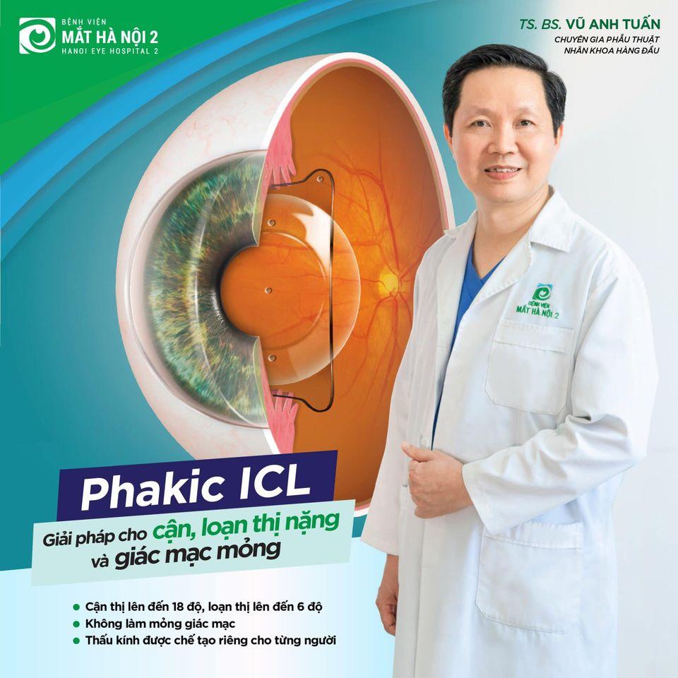 Mổ mắt cận Phakic tại Bệnh viện Mắt Hà Nội 2 – 72 Nguyễn Chí Thanh