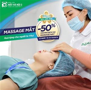 Ưu đãi 50% dịch vụ Massage mắt nhân ngày Phụ nữ Việt Nam 20/10